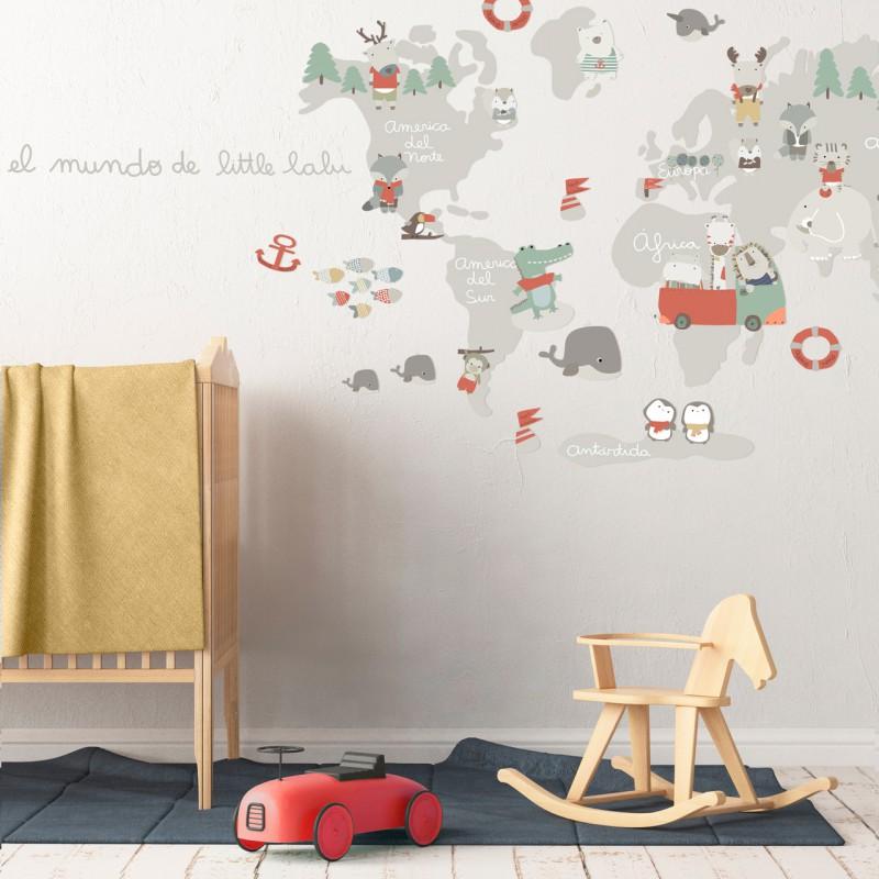 mapamundi infantil animales