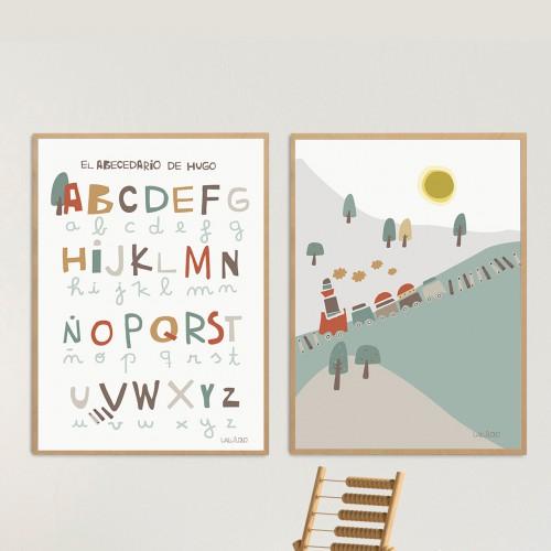pósters infantiles abecedario