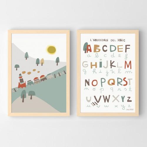 Poster infantil abecedario