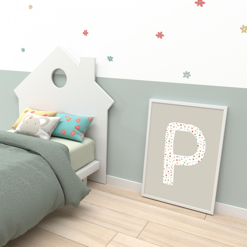 Cabecero cama infantil casita